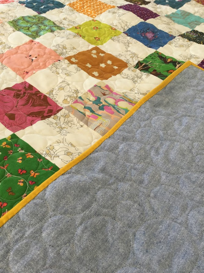Marin quilt folded